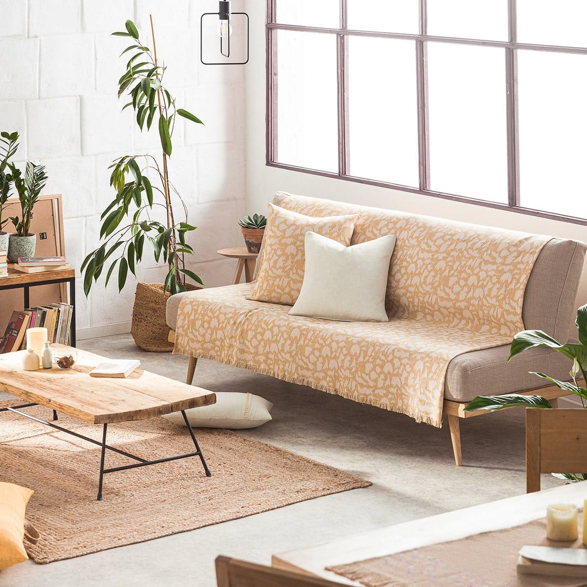 Ριχτάρι Simone 458/04 Mustard Gofis Home Τετραθέσιο 180x350cm
