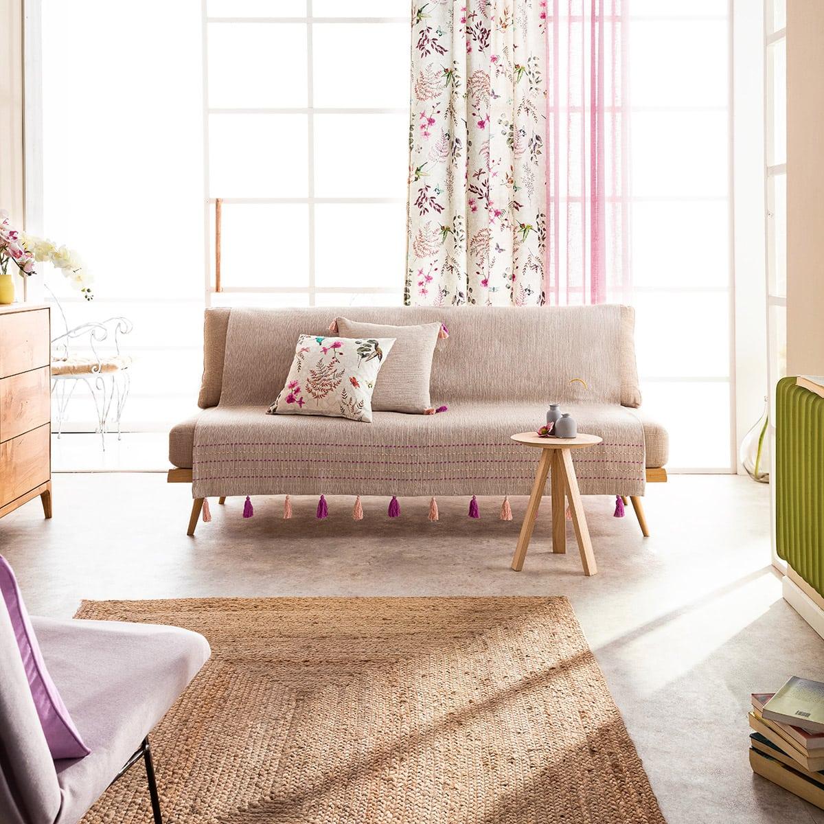 Ριχτάρι Trace 467/23 Fuchsia-Pink Gofis Home Τριθέσιο 180x310cm