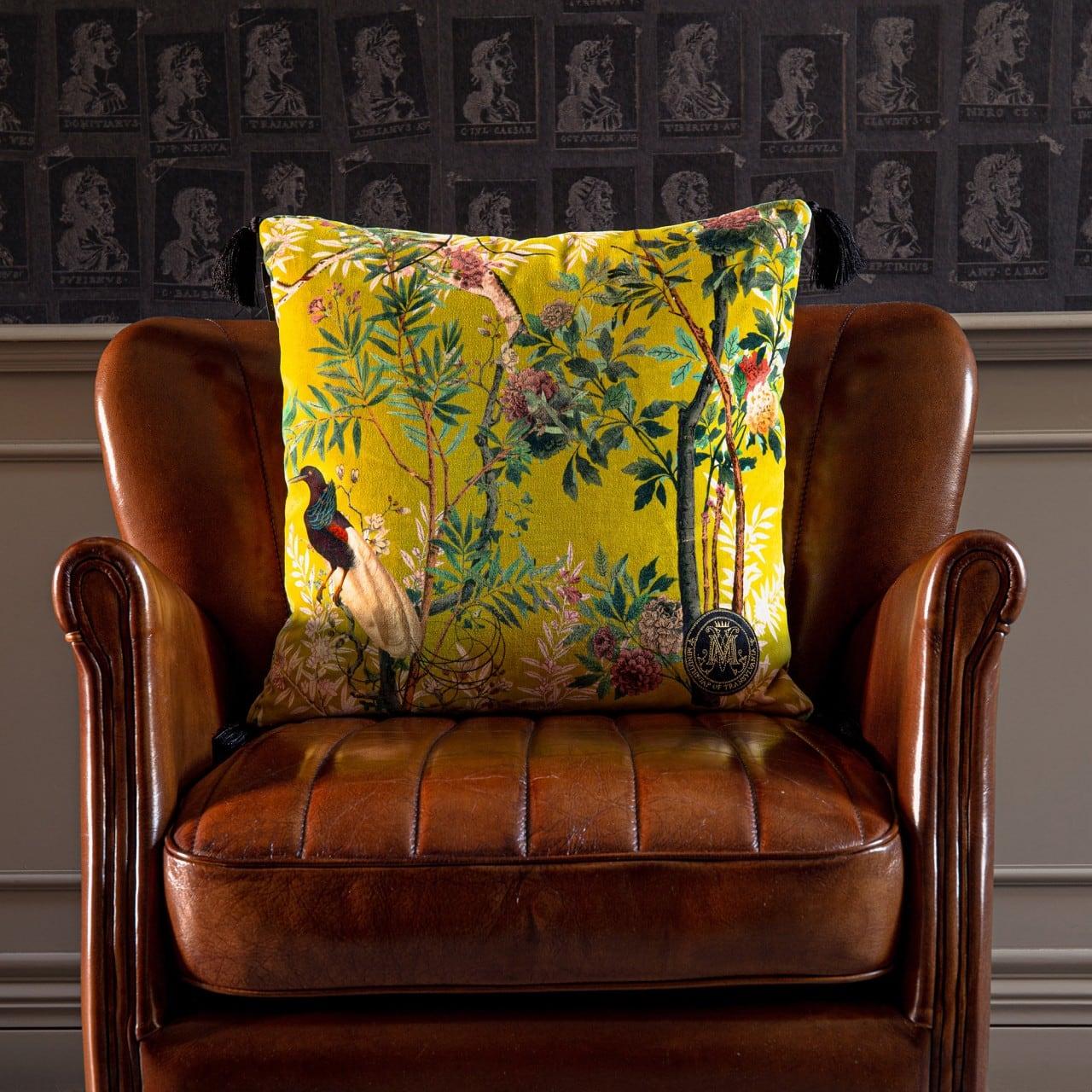 Μαξιλάρι Διακοσμητικό (Με Γέμιση) Royal Garden LC40056 MindTheGap 50X50 100% Βαμβάκι