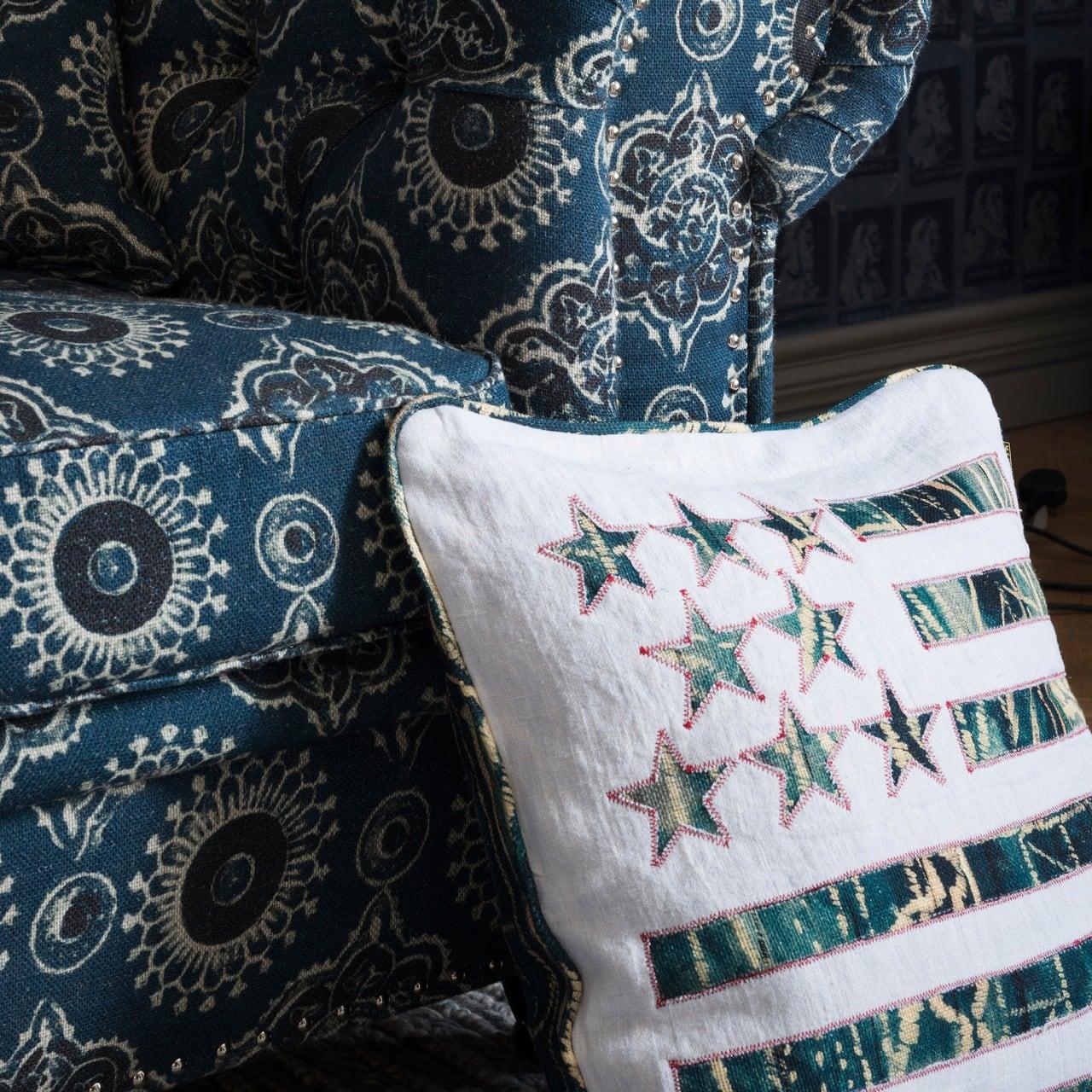 Μαξιλάρι Διακοσμητικό (Με Γέμιση) Stars And Stripes LC40030 MindTheGap 50X50 100% Λινό
