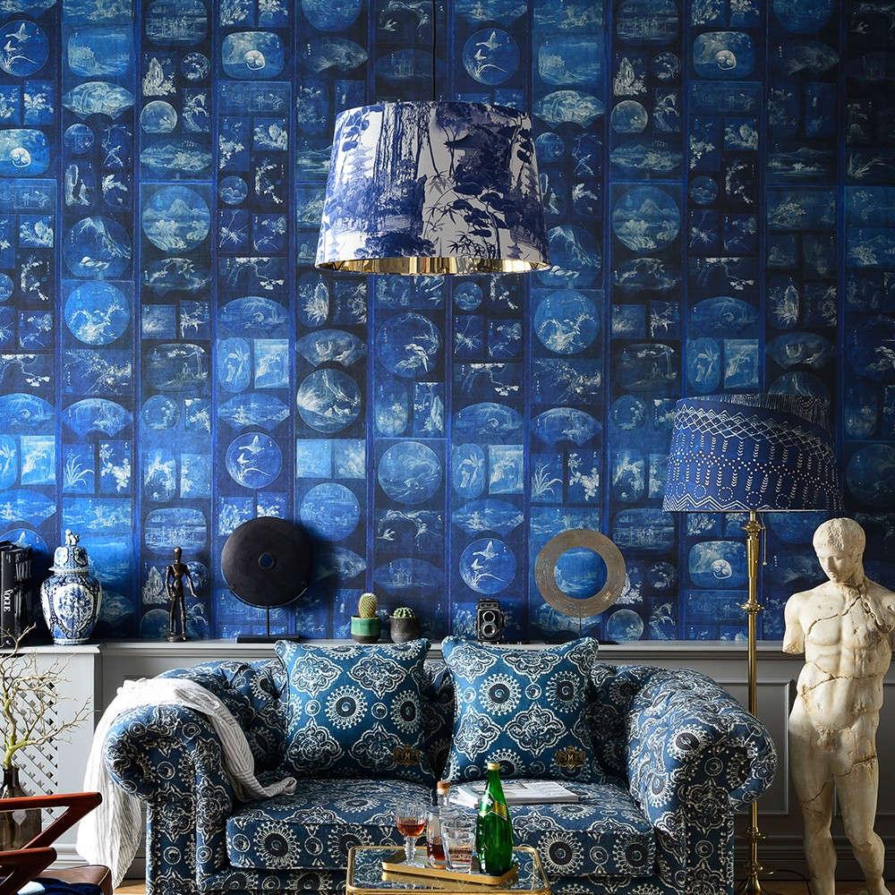 Ταπετσαρία Aizome Collage WP20506 Indigo MindTheGap