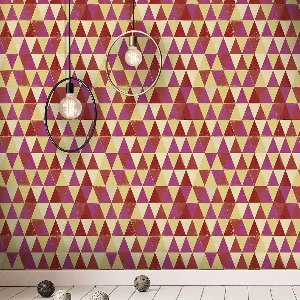 Ταπετσαρία Circus Pattern WP20006 Red-Yellow-Purple MindTheGap