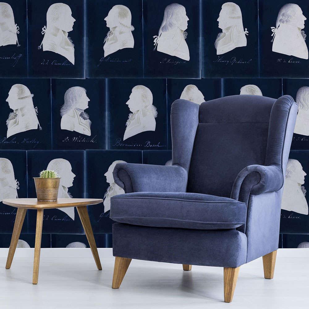 Ταπετσαρία Dutch Portraits Blue WP20186 Blue-White MindTheGap