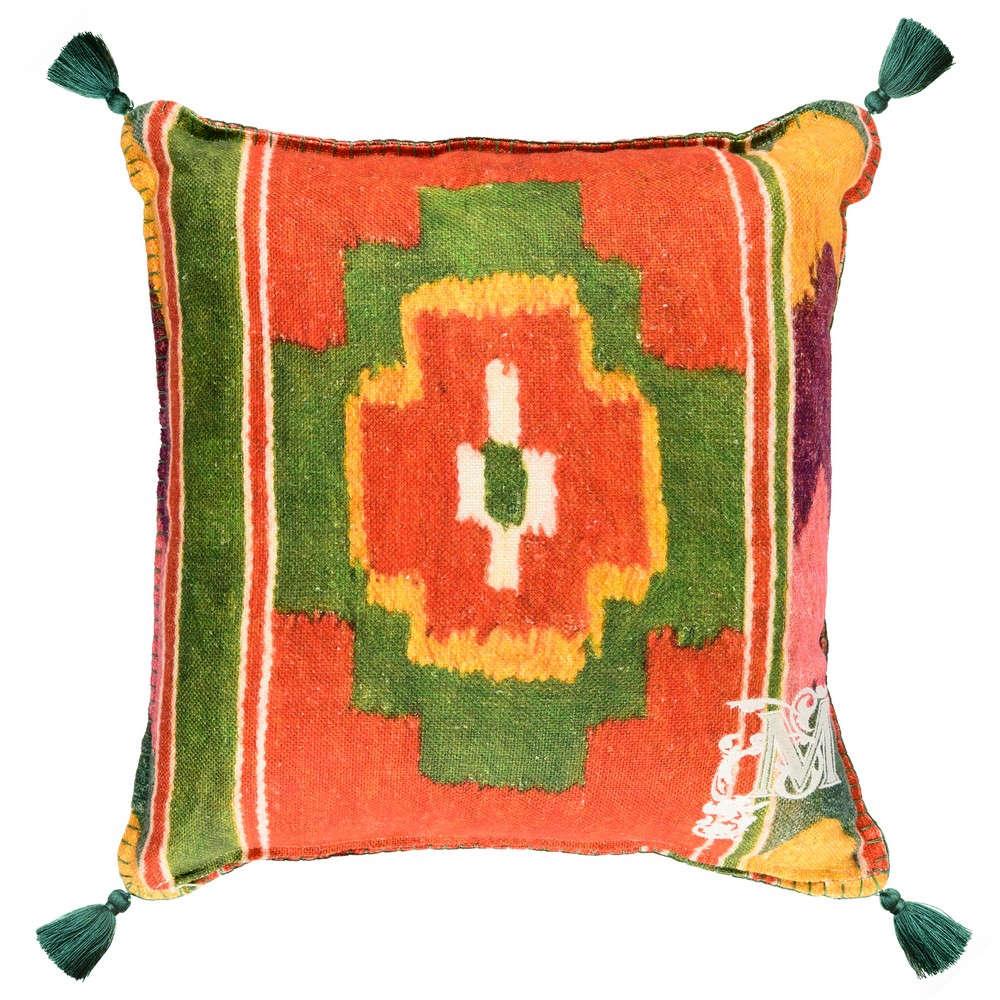 Μαξιλάρι Διακοσμητικό (Με Γέμιση) Erdely LC40086 50×50 Orange-Green MindTheGap 50X50 Πούπουλο-Φτερό