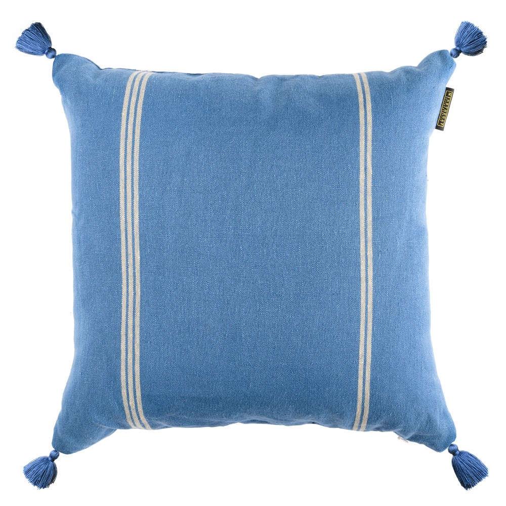 Μαξιλάρι Διακοσμητικό (Με Γέμιση) Katalin Stripe LC40096 50×50 Blue-White MindTheGap 50X50 Πούπουλο-Φτερό