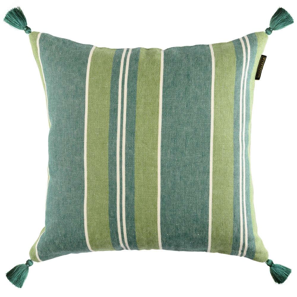 Μαξιλάρι Διακοσμητικό (Με Γέμιση) Szepviz Stripe LC40094 50×50 Green MindTheGap 50X50 Πούπουλο-Φτερό