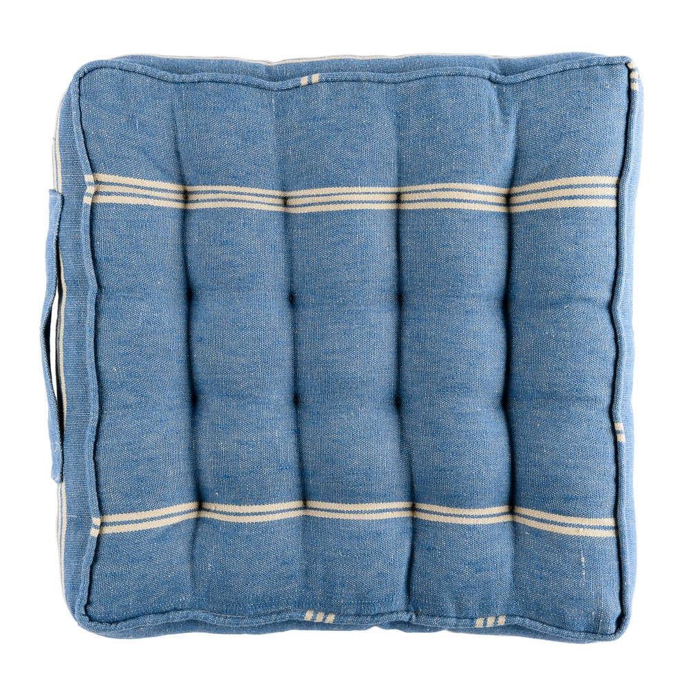 Μαξιλάρι Καρέκλας Katalin Stripe Linen Padded Cushion AC00022 40×40 Blue-White MindTheGap 40Χ40