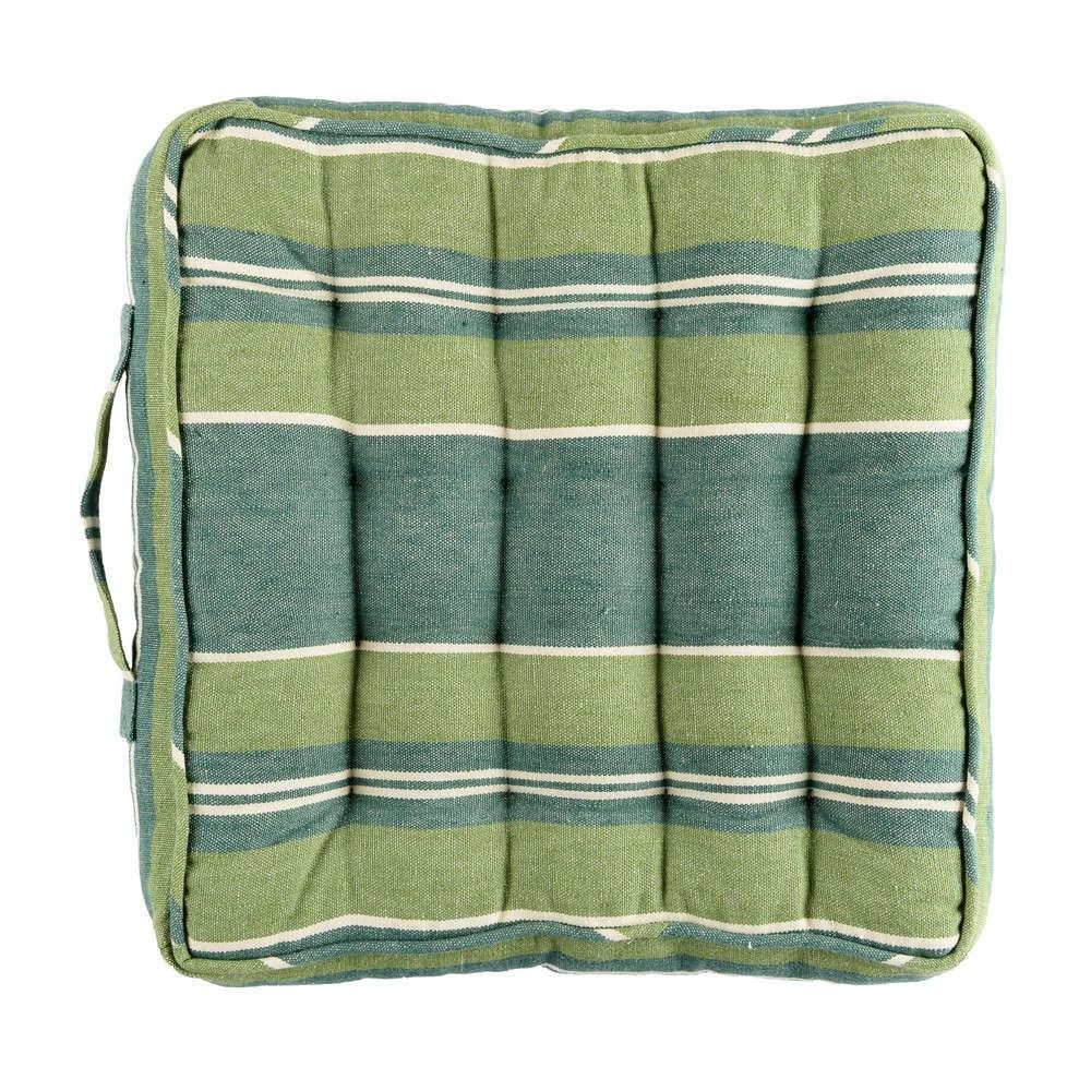 Μαξιλάρι Καρέκλας Szepviz Stripe Linen Padded Cushion AC00021 40×40 Green MindTheGap 40Χ40