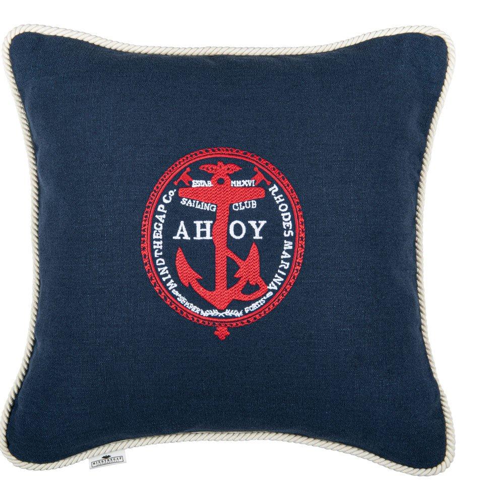 Μαξιλάρι Διακοσμητικό (Με Γέμιση) Ahoy! Lc40103 50X50Cm Blue-Red Mindthegap 50X50 Πούπουλο-Φτερό