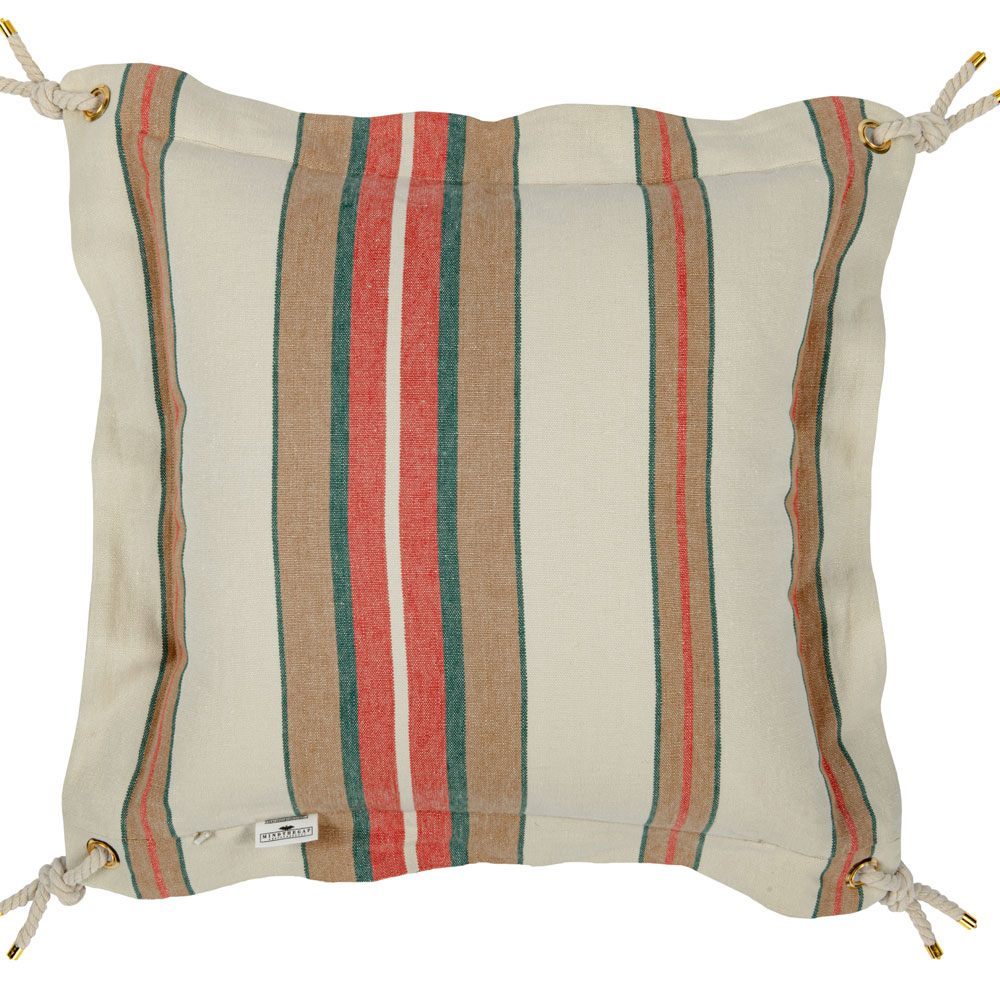 Μαξιλάρι Διακοσμητικό (Με Γέμιση) Herina Stripe Lc40119 50X50Cm White-Brown Mindthegap 50X50 Foam