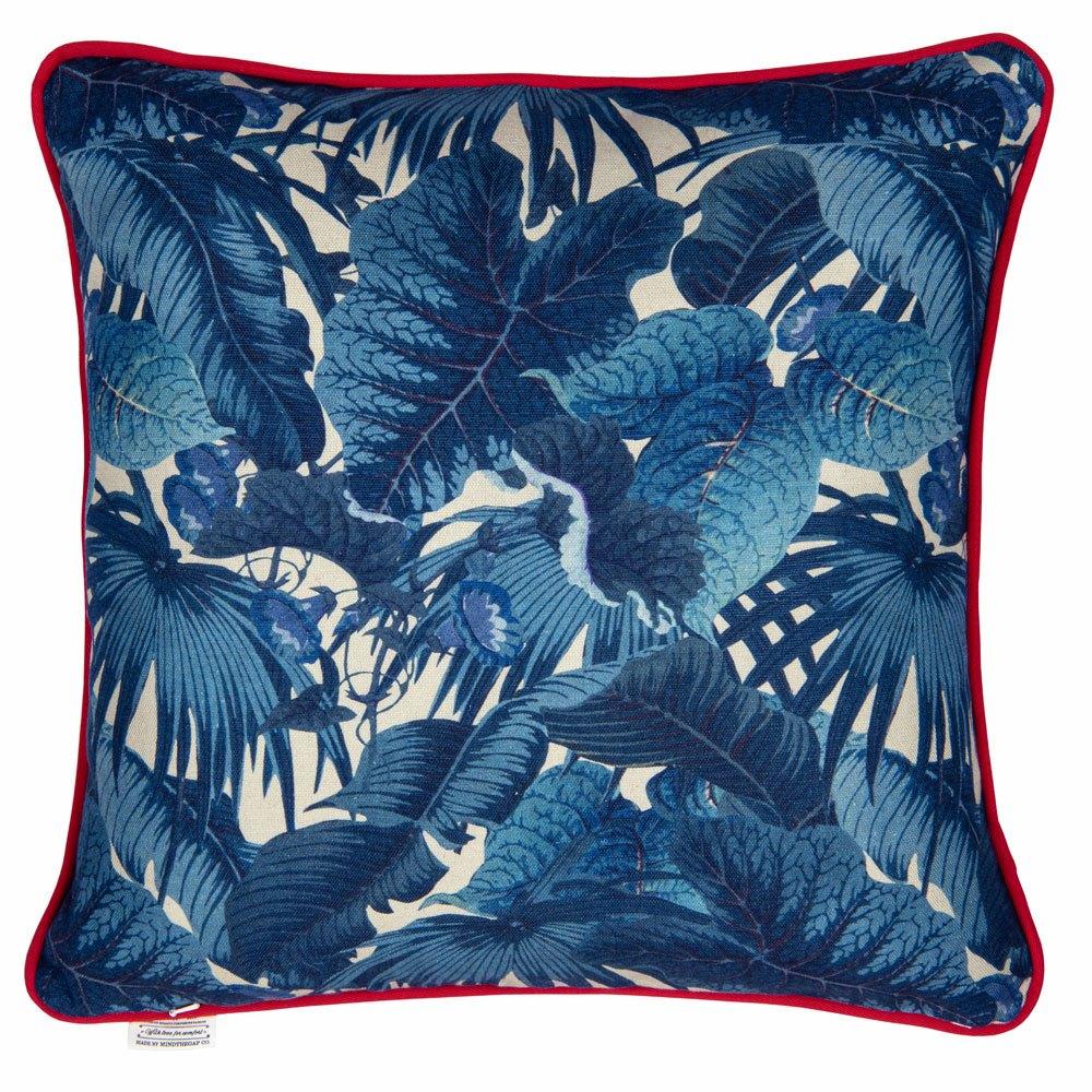 Μαξιλάρι Διακοσμητικό (Με Γέμιση) Paradeisos Lc40113 50X50Cm Blue-Red Mindthegap 50X50 Πούπουλο-Φτερό