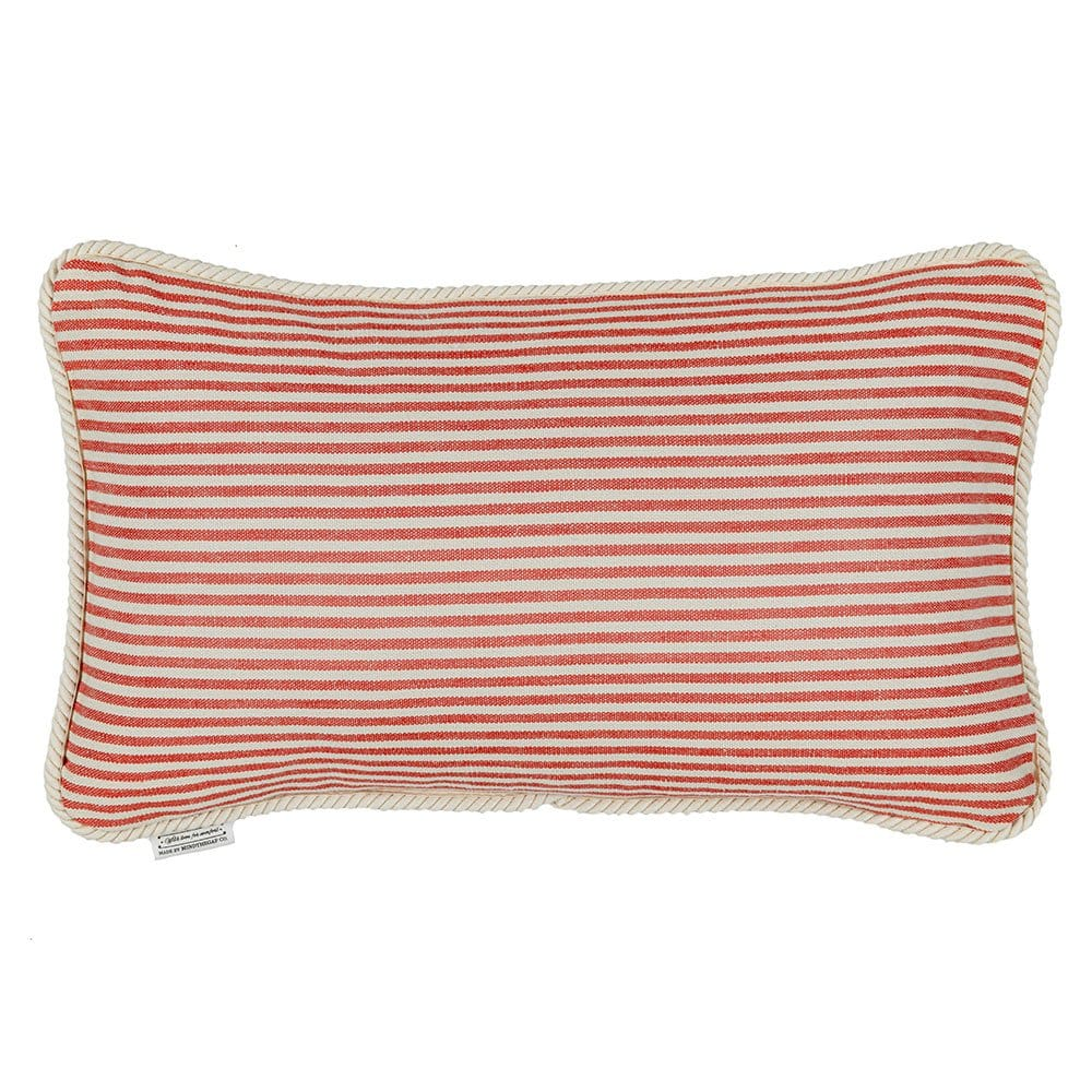 Μαξιλάρι Διακοσμητικό (Με Γέμιση) Rhubarb Stripe Lc40120 50X30Cm White-Red Mindthegap 30Χ50 Πούπουλο-Φτερό