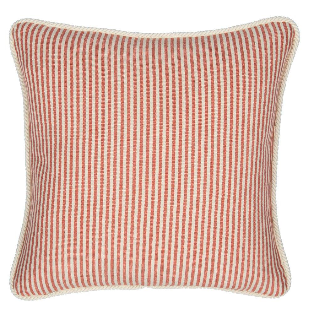 Μαξιλάρι Διακοσμητικό (Με Γέμιση) Rhubarb Stripe Lc40117 50X50Cm White-Red Mindthegap 50Χ70 Πούπουλο-Φτερό