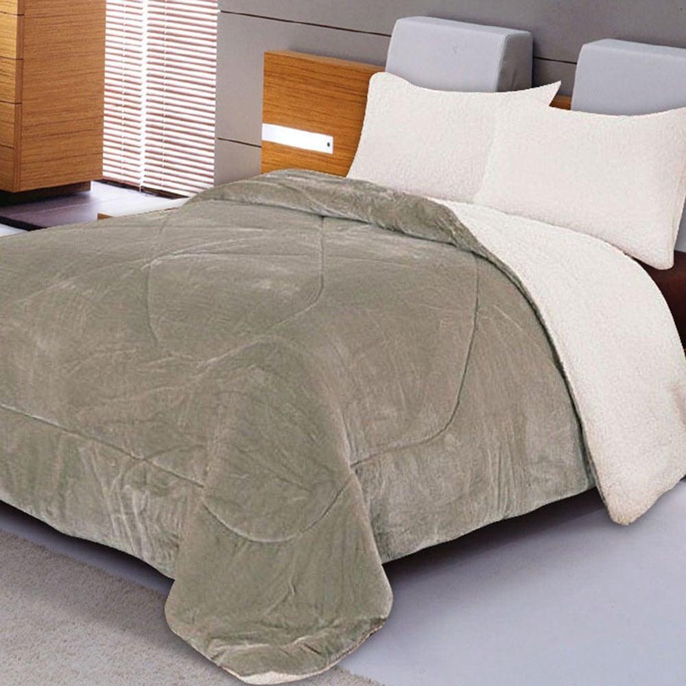 Κουβέρτα Quilt flannel & Sherpa 805 Elephant Adam Home Μονό 160x220cm