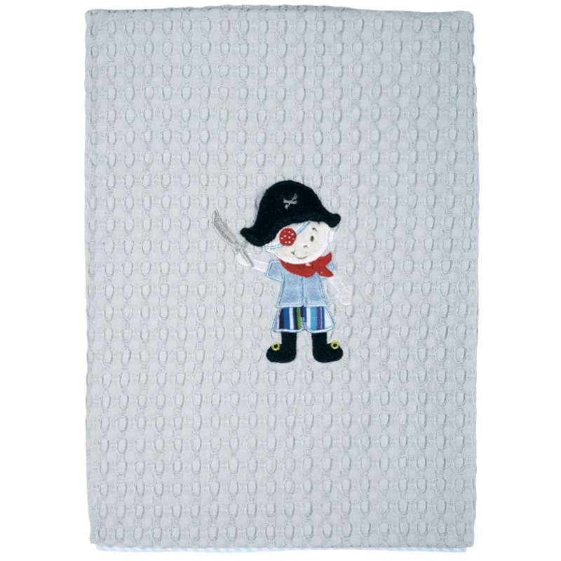 Βρεφική Κουβέρτα Πικέ 6510 Baby Dream Embroidery Ciel Das Home Αγκαλιάς 80x110cm