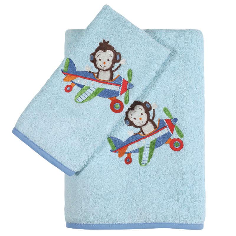 Βρεφικές Πετσέτες Σετ Κεντητές 6515 2Τεμ. Baby Smile Embroidery Ciel Das Home Σετ Πετσέτες