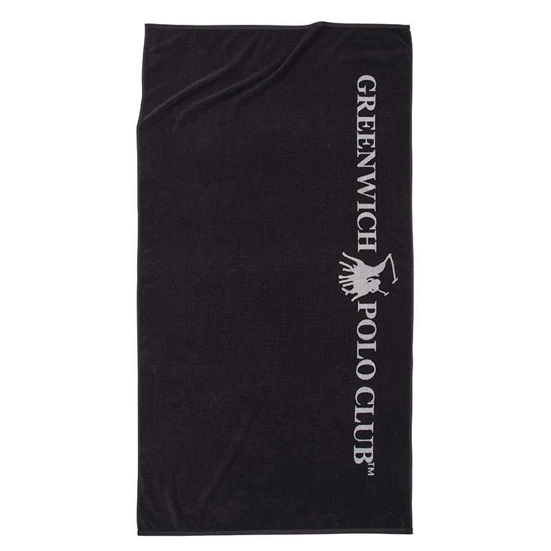 Πετσέτα Θαλάσσης 2839 Black-Ecru Greenwich Polo Club Θαλάσσης 90x170cm