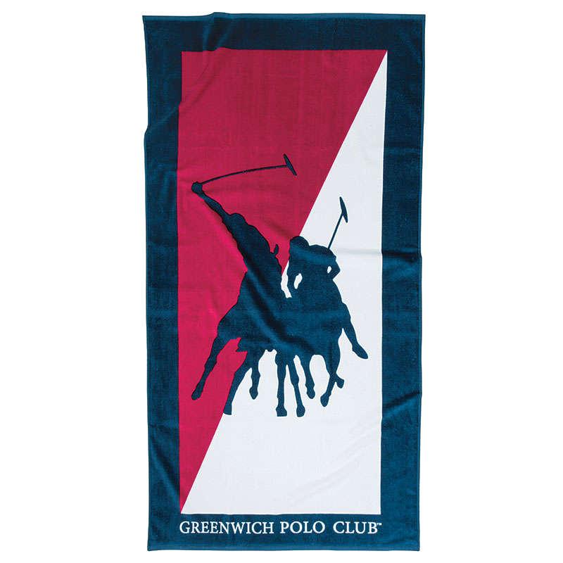 Πετσέτα Θαλάσσης 2858 Blue Greenwich Polo Club Θαλάσσης 80x160cm