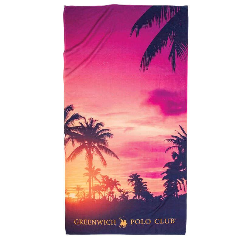 Πετσέτα Θαλάσσης 2862 Red-Yellow Greenwich Polo Club Θαλάσσης 80x160cm