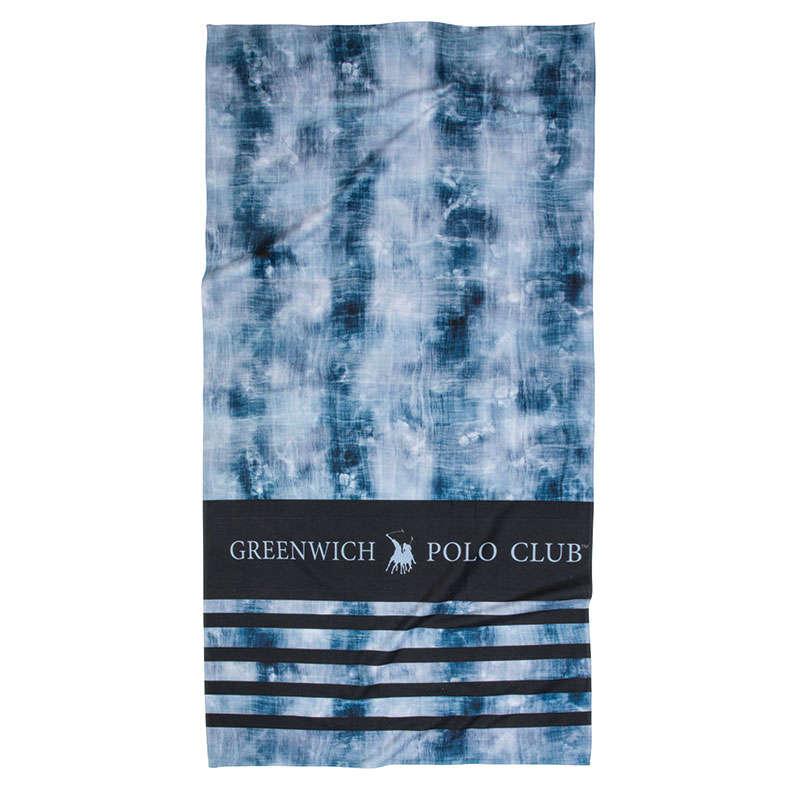 Πετσέτα Θαλάσσης 2866 Blue-Black Greenwich Polo Club Θαλάσσης 80x160cm