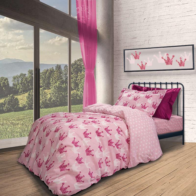 Παιδικά Σεντόνια Σετ 2909 Junior Pink Greenwich Polo Club Μονό 170x260cm