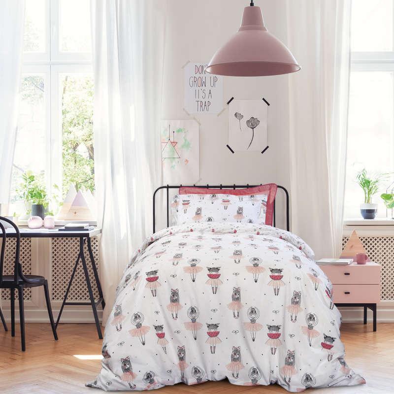 Παιδικά Σεντόνια Σετ 3τμχ 4674 Kid White-Pink Das Home Μονό 170x260cm