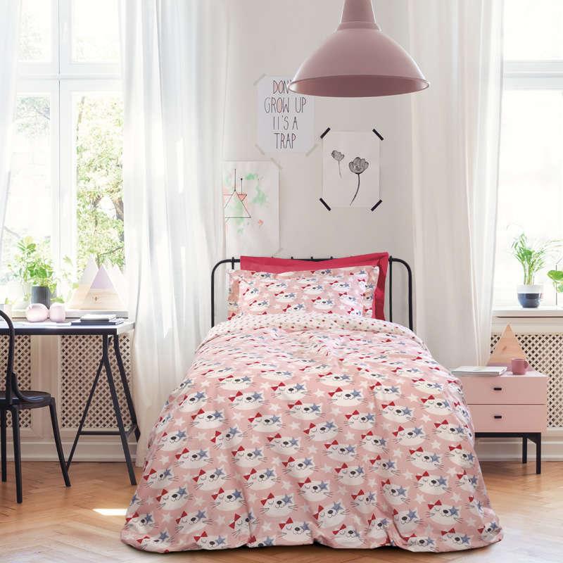Παιδικά Σεντόνια Σετ 3τμχ 4676 Kid Beige-Pink Das Home Μονό 170x260cm