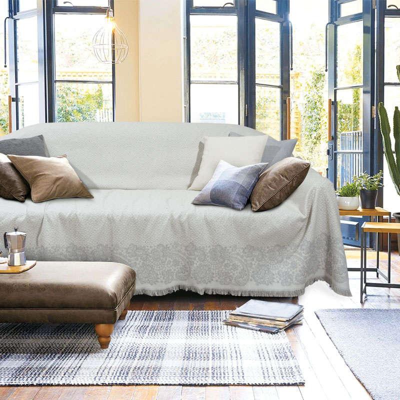 Ριχτάρι 164 Ecru-Grey Das Home Διθέσιο 180x250cm