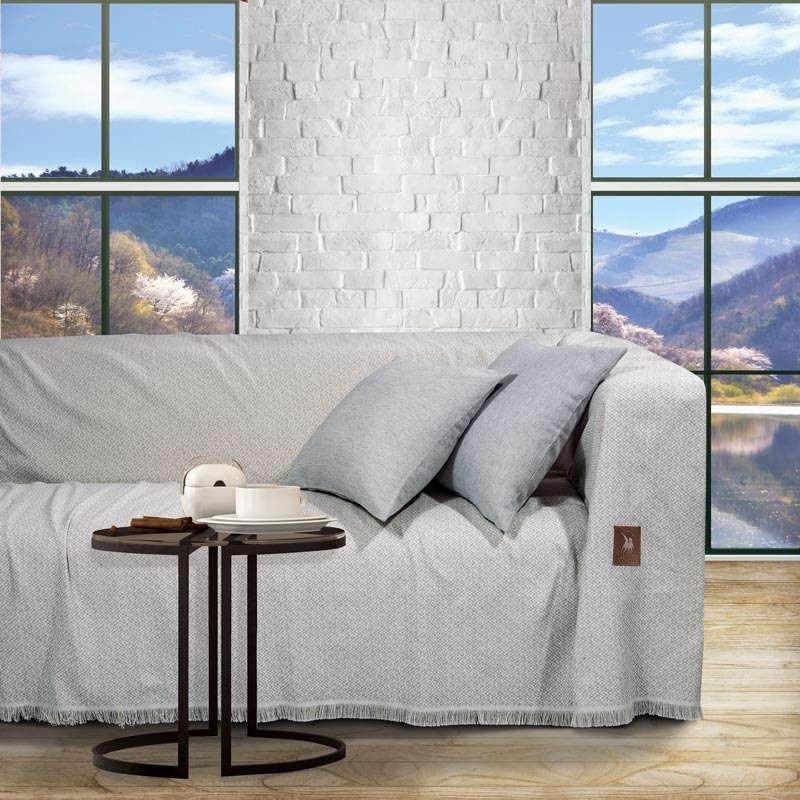 Ριχτάρι 2730 Ecru-Grey Greenwich Polo Club Τριθέσιο 180x300cm