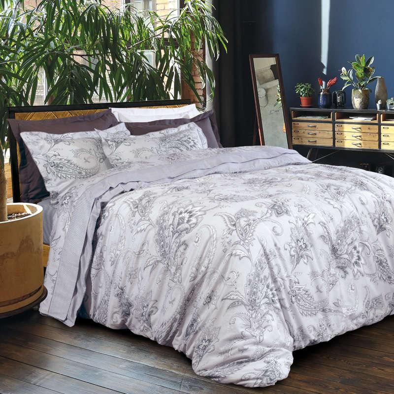 Σεντόνια Σετ 4Τμχ. 1609 Prestige Ivory-Grey Das Home Υπέρδιπλo 230x260cm