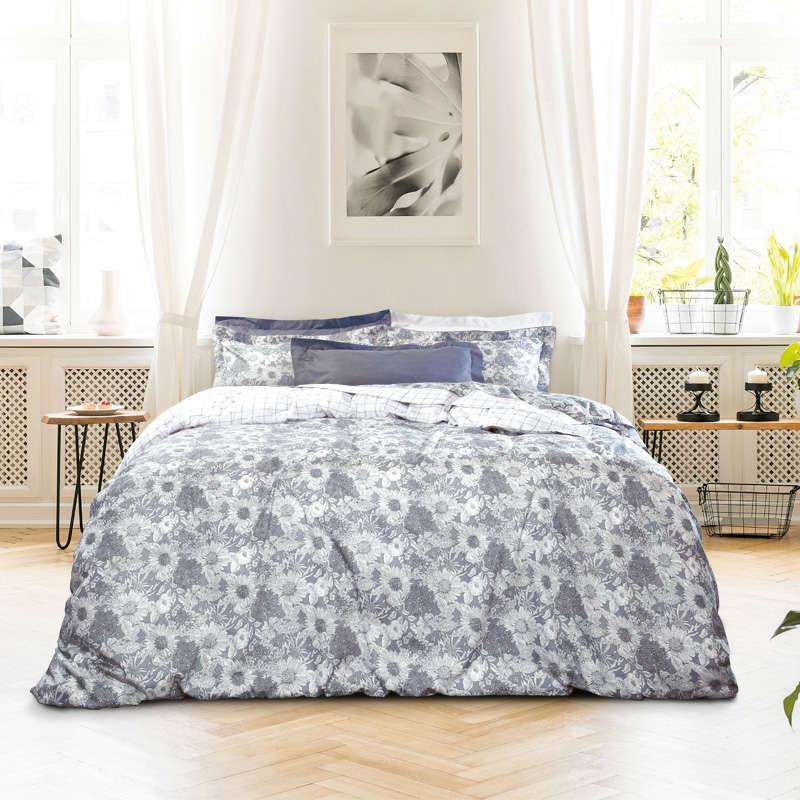Σεντόνια Σετ 4Τμχ. 1611 Prestige Grey-Beige Das Home Υπέρδιπλo 230x260cm