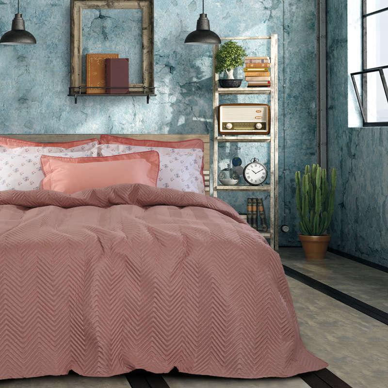 Κουβερλί 9452 Happy Powder Pink Das Home Υπέρδιπλo 220x240cm