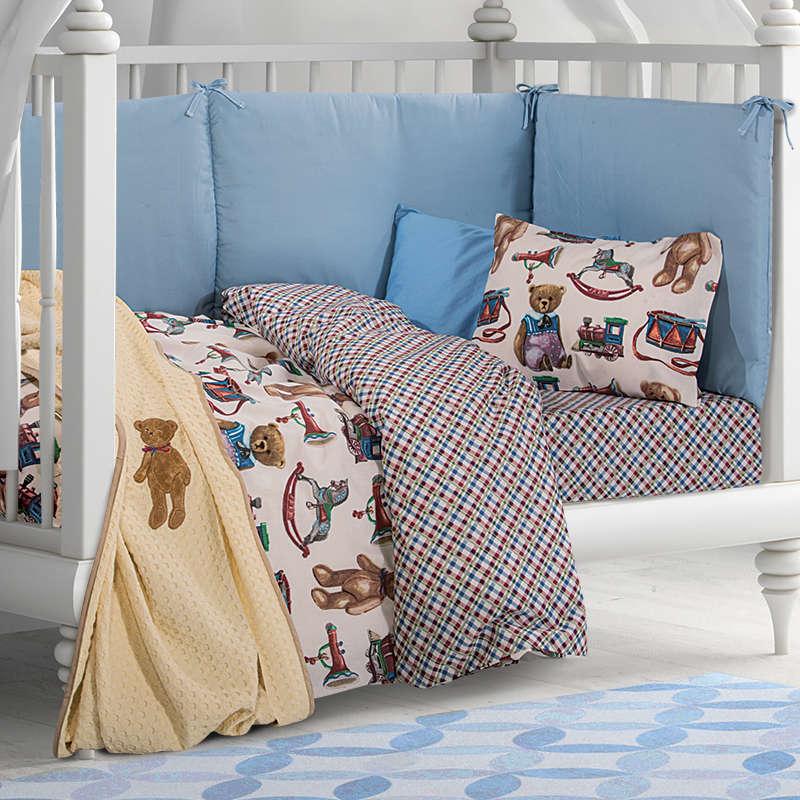 Κουβέρτα 2908 Πικέ Ecru Greenwich Polo Club Κούνιας 110x150cm