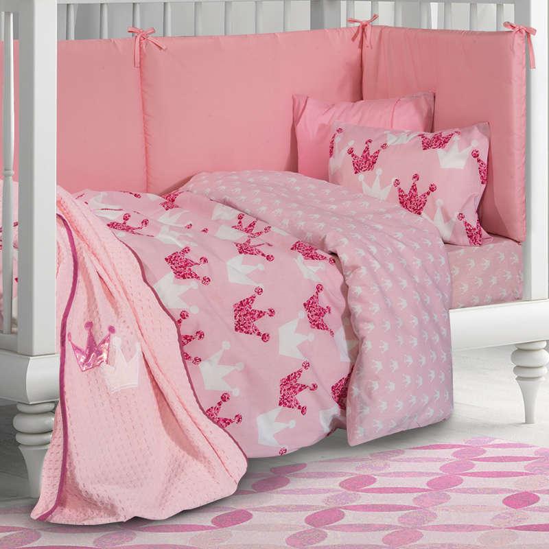 Κουβέρτα 2909 Πικέ Pink Greenwich Polo Club Κούνιας 110x150cm