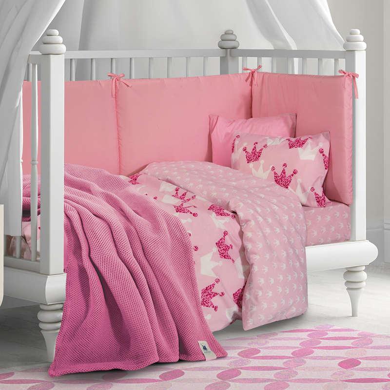 Βρεφική Κουβέρτα Πικέ 2958 Pink Greenwich Polo Club Αγκαλιάς 80x110cm