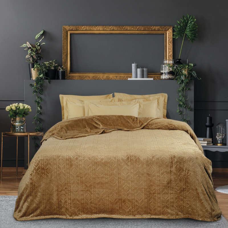 Κουβέρτα Fleece 0427 Bronze Das Home Μονό 160x220cm