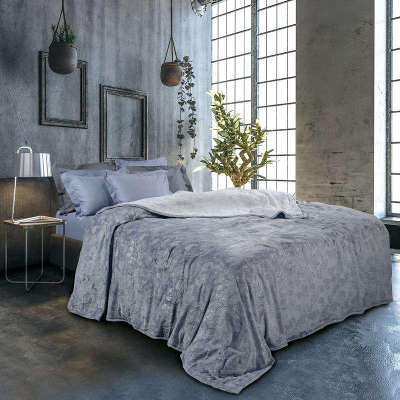 Κουβέρτα Fleece 0429 Grey Das Home Υπέρδιπλo 220x240cm