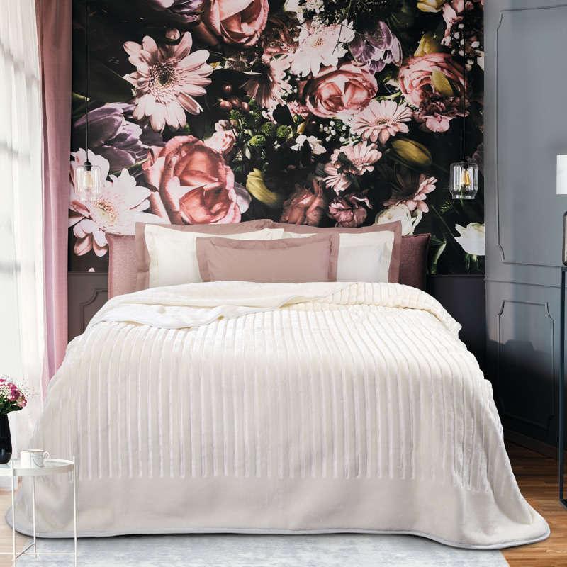 Κουβέρτα Velour 0430 Ivory Das Home Μονό 160x220cm
