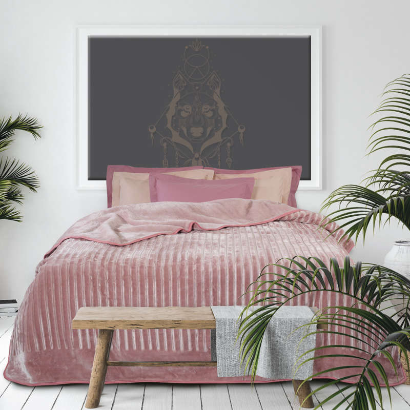 Κουβέρτα Velour 0431 Nude Das Home Υπέρδιπλo 220x240cm
