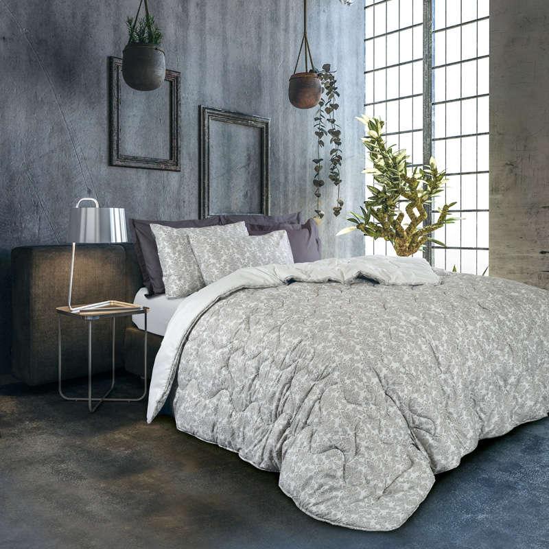 Πάπλωμα & Σεντόνια Σετ 4692 Winter Pack Best Grey Das Home Υπέρδιπλo 220x240cm