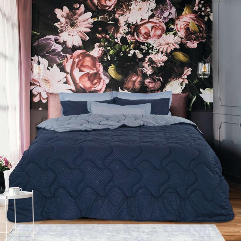 Πάπλωμα & Σεντόνια Σετ 4689 Winter Pack Best Blue Das Home Υπέρδιπλo 220x240cm