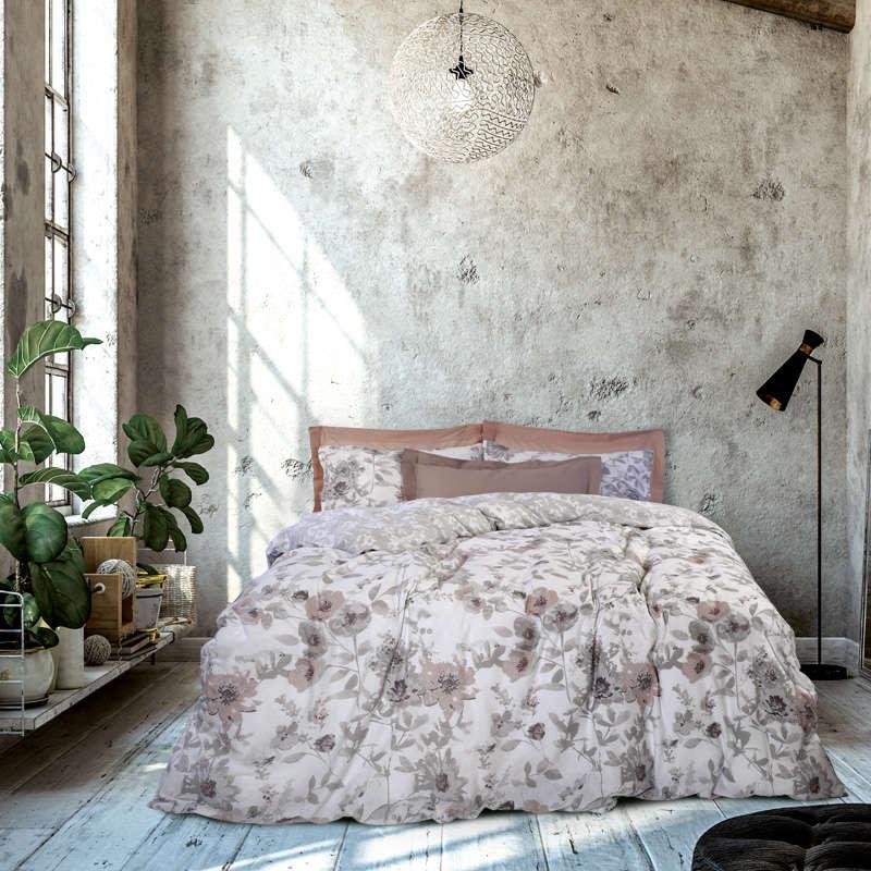 Παπλωματοθήκη Σετ 9463 Happy Flannel Grey Das Home Μονό 160x240cm