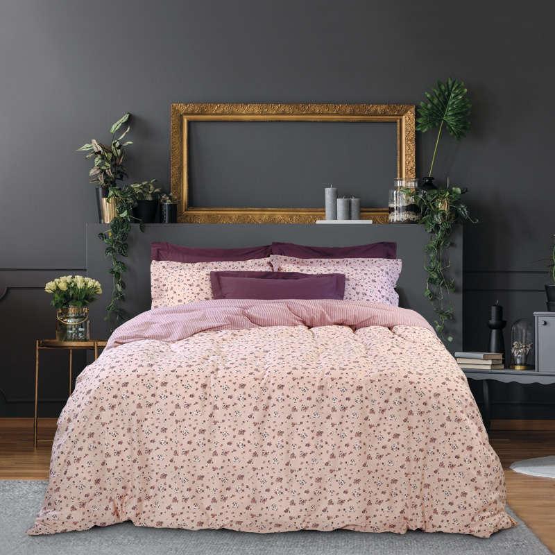 Παπλωματοθήκη Σετ Best 4697 Pink-Nude Das Home Υπέρδιπλo 220x240cm