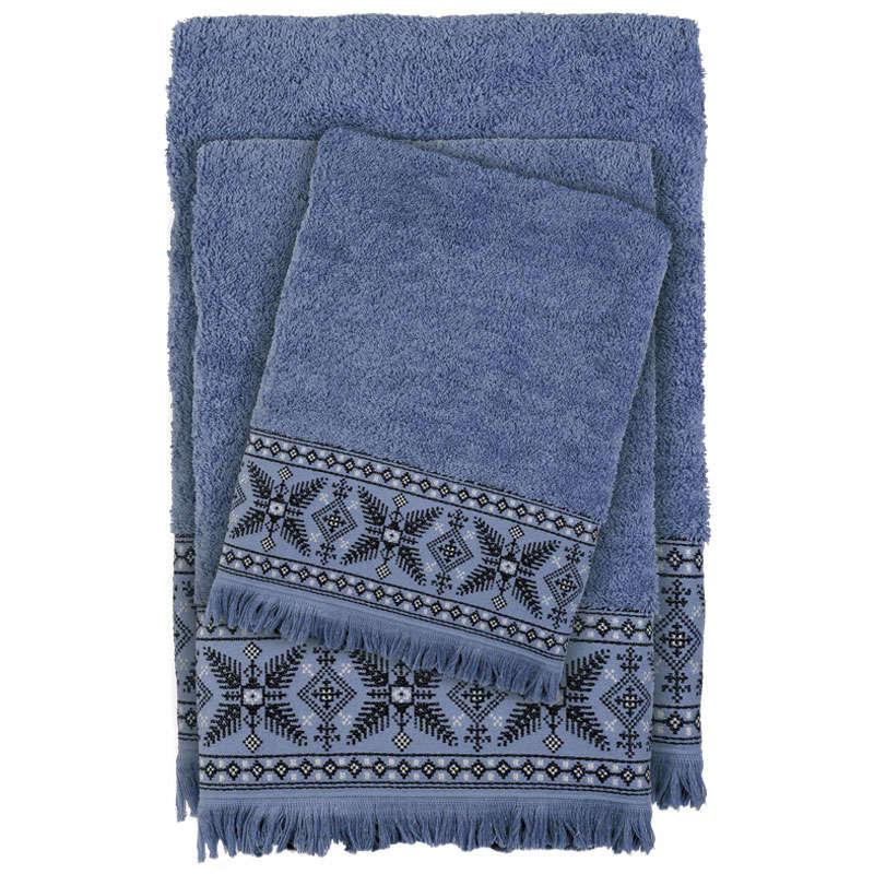 Πετσέτες Σετ 3τμχ 0393 Happy Blue Das Home Σετ Πετσέτες