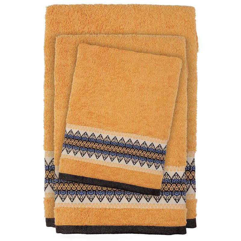 Πετσέτες Σετ 3τμχ 0395 Happy Yellow Das Home Σετ Πετσέτες