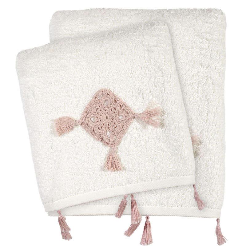 Πετσέτες Σετ 3τμχ 0410 Daily Ivory Das Home Σετ Πετσέτες