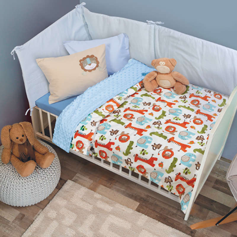 Κουβέρτα Βρεφική Bubble Fleece 6548 Relax Orange-Green Das Baby Κούνιας 110x150cm