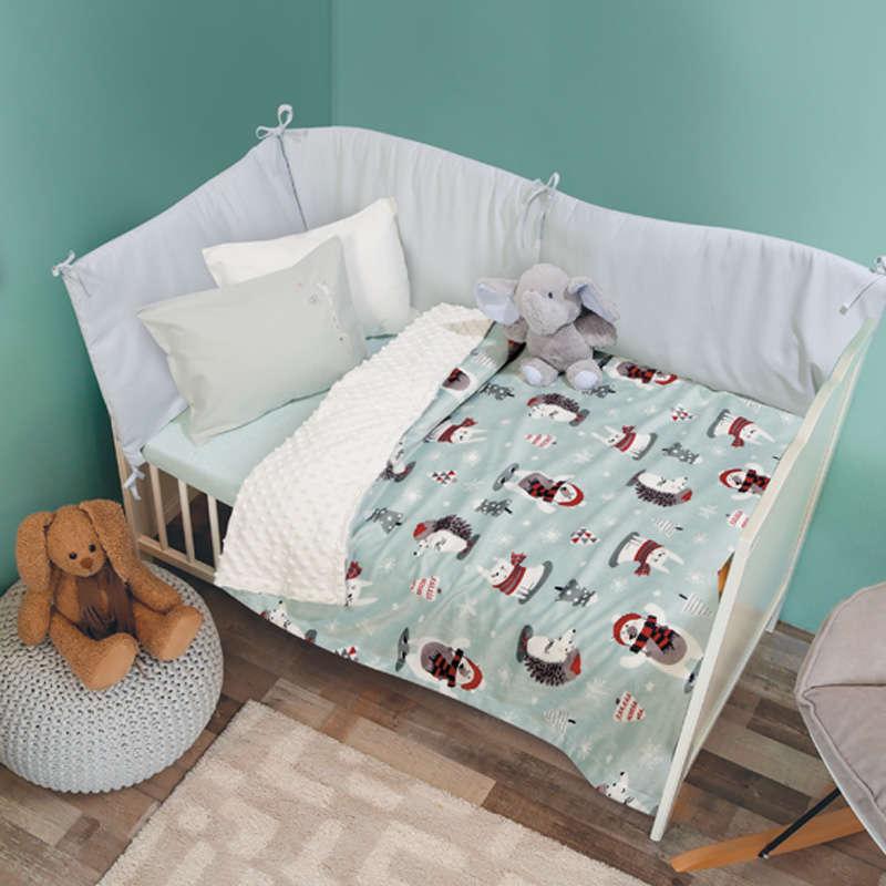 Κουβέρτα Βρεφική Bubble Fleece 6551 Relax Mint Das Baby Αγκαλιάς 75x110cm