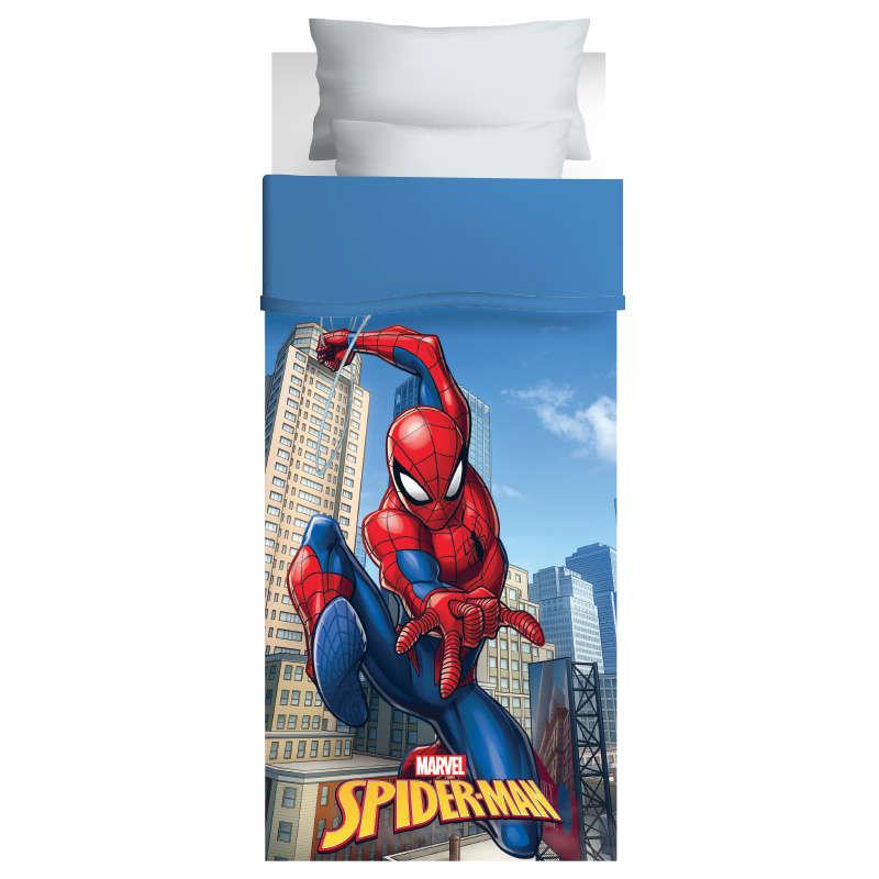 Πάπλωμα Παιδικό 5027 Spiderman 170×260 Red-Blue Das Kids Μονό 170x260cm