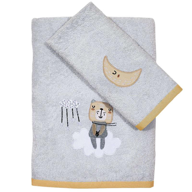 Πετσέτες Βρεφικές Σετ Κεντητές 2τμχ 4703 Baby Fun Embroidery Light-Beige Das Baby Σετ Πετσέτες